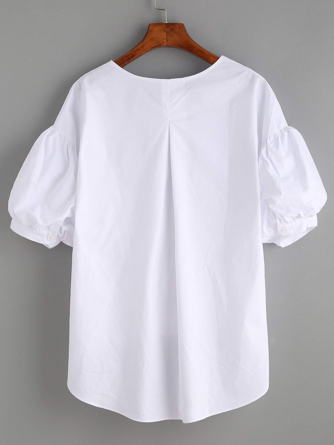 White Cotton Blouses Uk