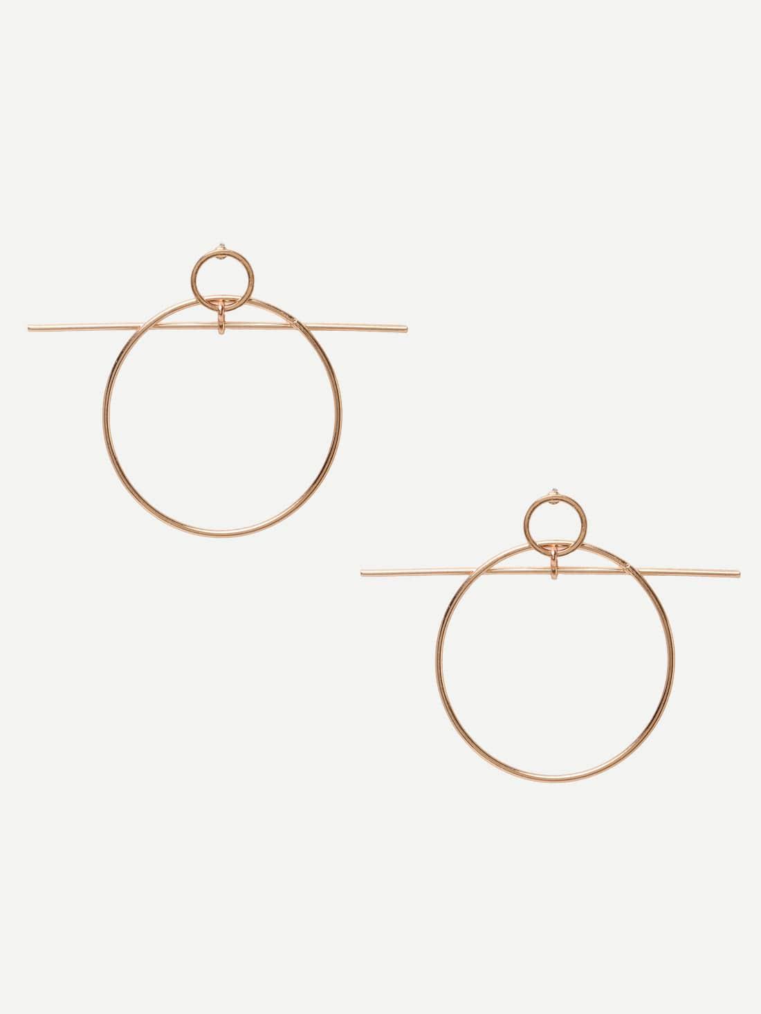 Фото Golden Geometric Earrings. Купить с доставкой