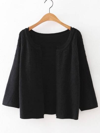 Jersey estilo cárdigan - negro