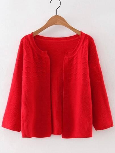 Jersey estilo cárdigan - rojo
