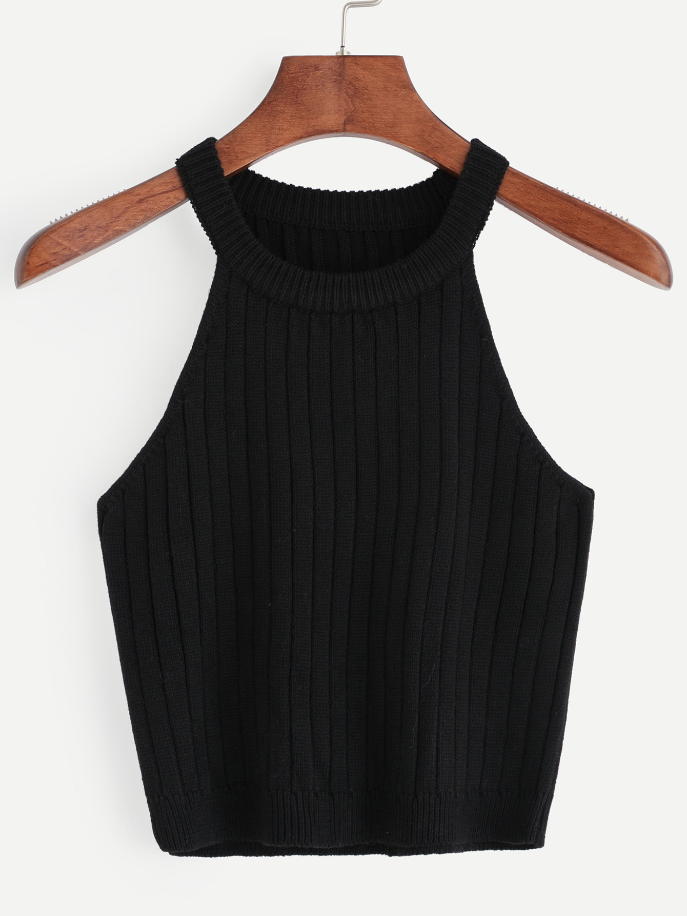 Knitted Rib Tank Top vest160627526