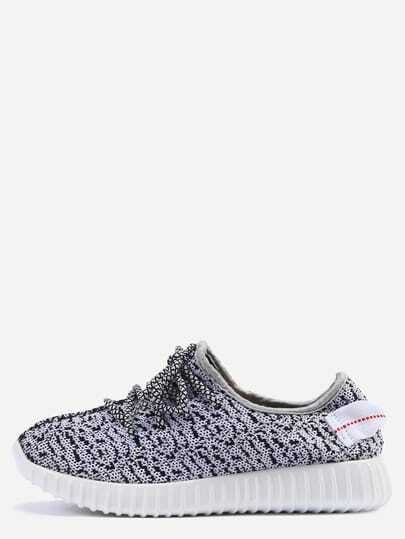 Round Toe Lace-up Punk Low-Top Sneakers
