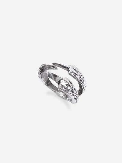 Antique Silver Punk Talon-shaped Ring