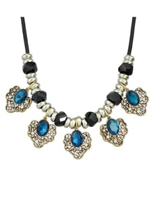 Lakeblue Flower Statement Collar Necklace