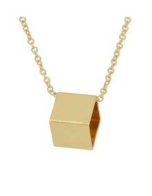 Gold Plated Geometric Pendant Necklace