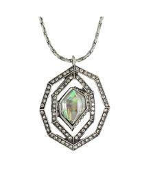 Big Single Rhinestone Pendant Necklace
