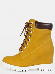 Outdoor Chunky Ankle Booties WHEAT