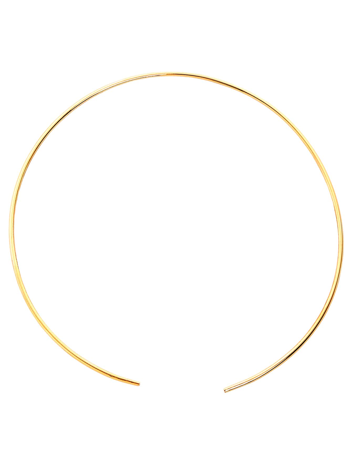Gold Bar Collar Necklace
