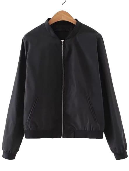Купить Чёрная куртка в стиле минимализм, null, SheIn