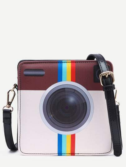 Black Camera Shaped Crossbody Bag