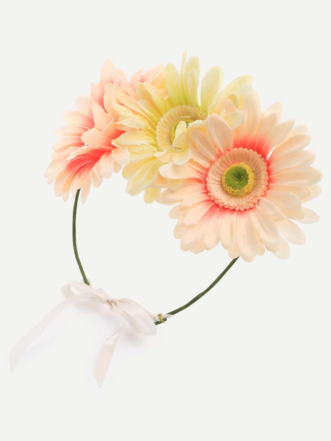 serre t te orn de fleurs blanc cass french shein sheinside. Black Bedroom Furniture Sets. Home Design Ideas