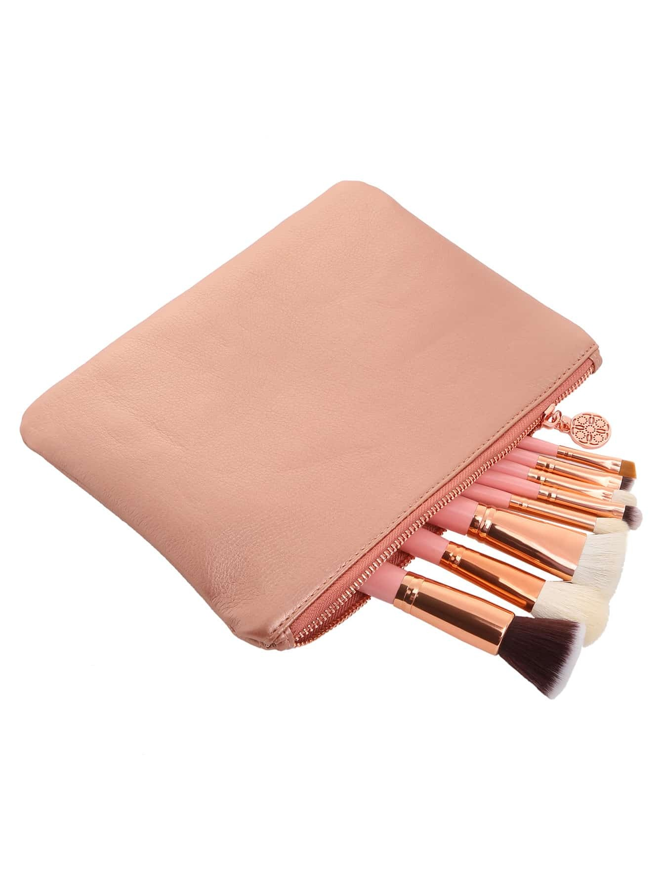 8 PCS Makeup Brushes With Bag8 PCS Makeup Brushes With Bag<br><br>color: Pink<br>size: None