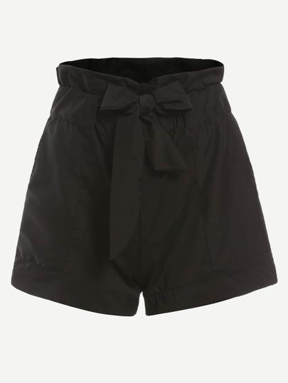 Ruffle Waist Self Tie Shorts