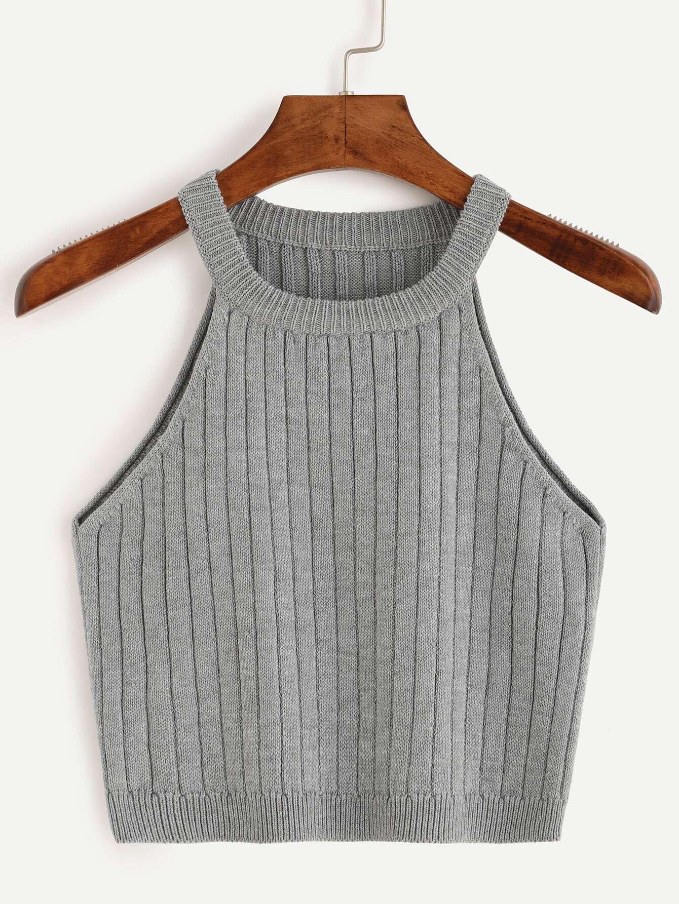 Фото Ribbed Knitted Tank Top. Купить с доставкой