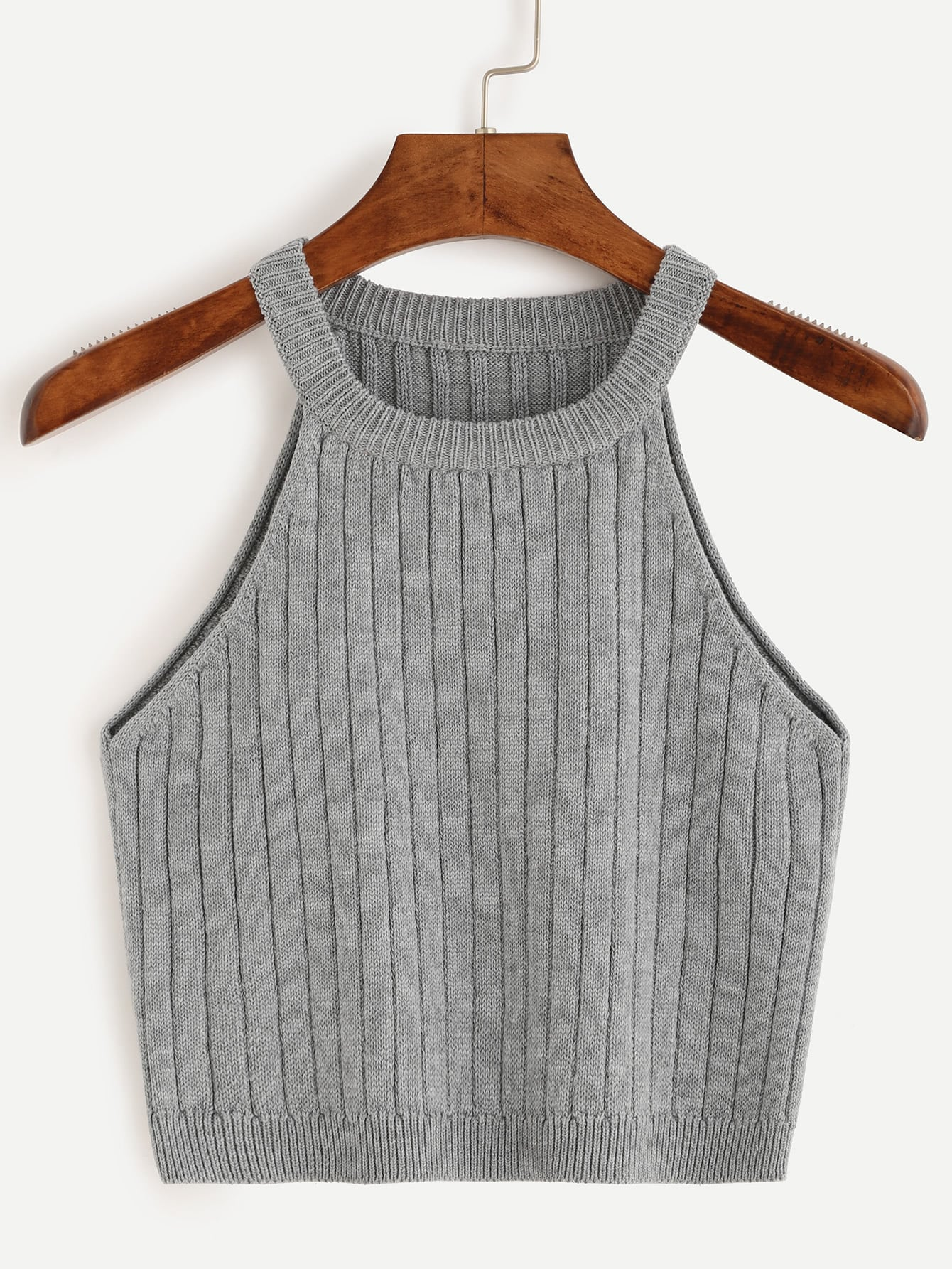 Ribbed Knitted Tank Top vest160704525
