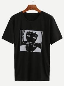 Black Girl Print T-shirt