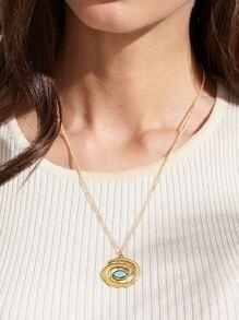 Golden Geometric Pendant Necklace