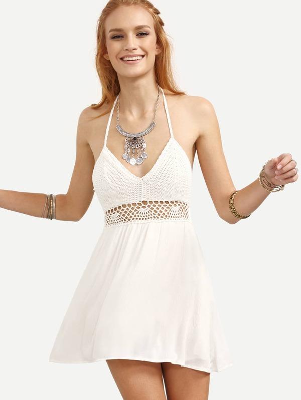 Backless Hollow Dress