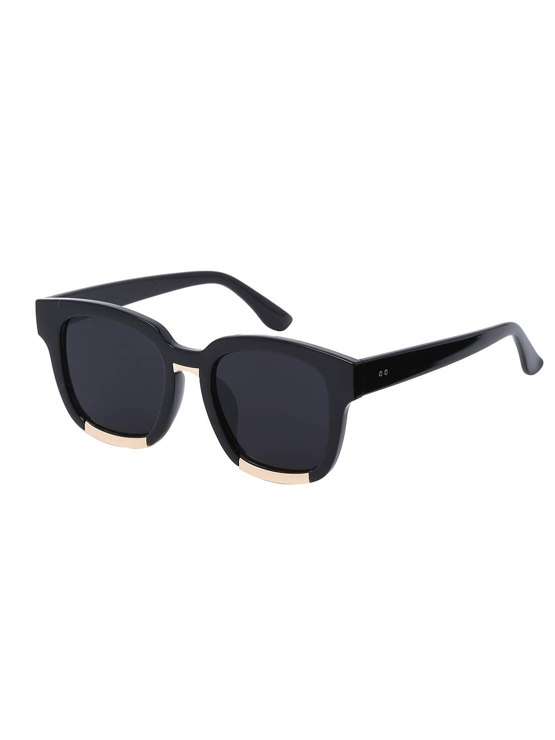 Black Vintage Square Frame Sunglasses -SheIn(Sheinside)
