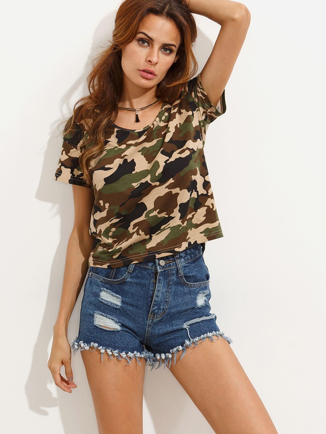 Фото Camouflage Short Sleeve T-shirt. Купить с доставкой