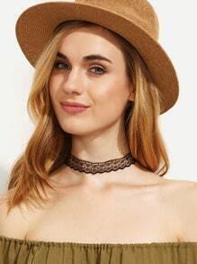 Black Minimalist Lace Choker Necklace