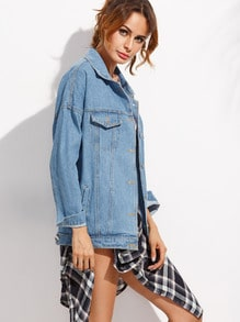 Giacca larga in denim - blu