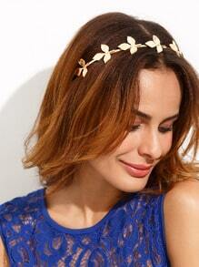 Golden Leaf Shaped Hair Band