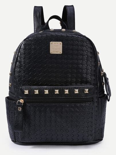 Braided Studded Backpack