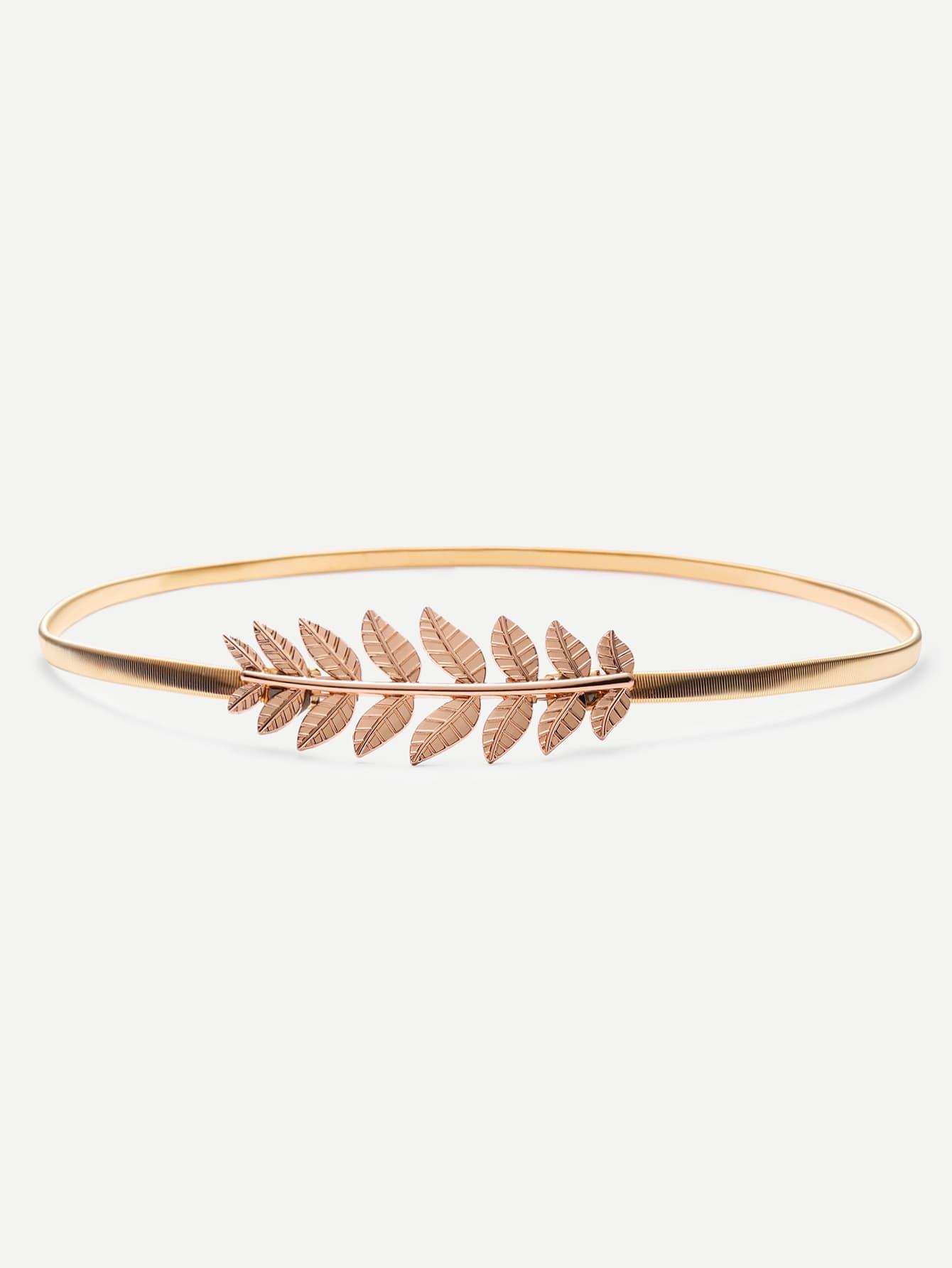 Gold Leaf Metal Elastic Belt