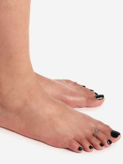 Silver Spiral Toe Ring