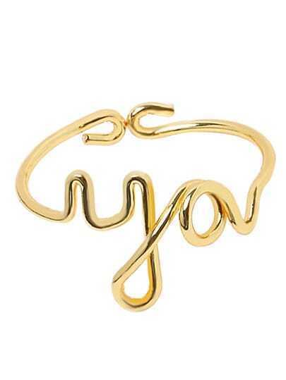 Golden You Letter Ring