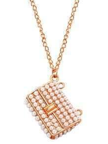 Golden Beaded Bag Pendant