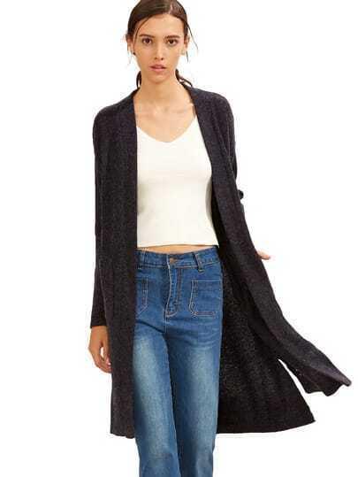 Cárdigan bolsillo asimétrico - violeta