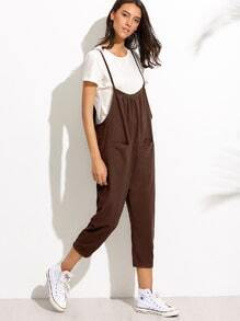 Brown Peg Leg Cami Jumpsuit