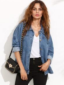 Drop Shoulder Boyfriend Denim Jacket