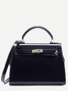 Чёрная модная сумка