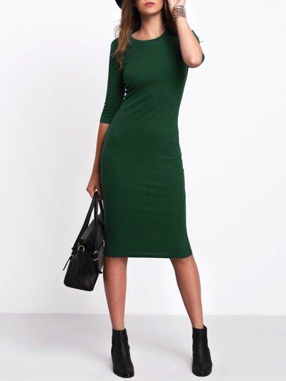 Slim Midi Tee Dress