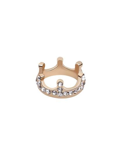 Gold Rhinestone Crown Ring
