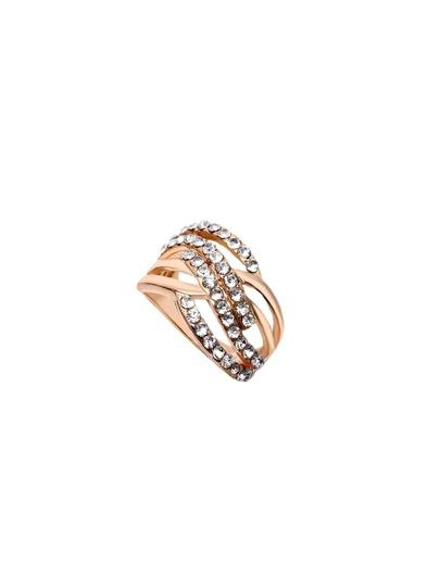 Gold Rhinestone Layered Ring