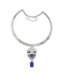 Darkblue Rhinestone Choker Necklace