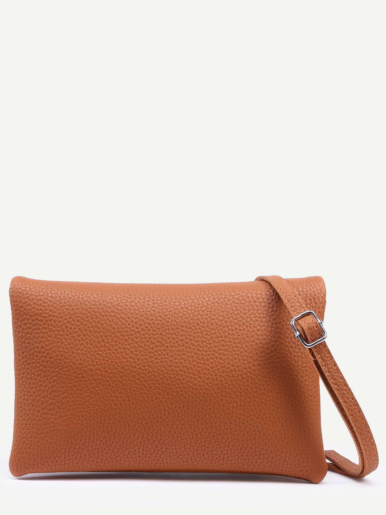 Camel Pebbled Faux Leather Multi Layer Fold Over BagCamel Pebbled Faux Leather Multi Layer Fold Over Bag<br><br>color: Camel<br>size: None