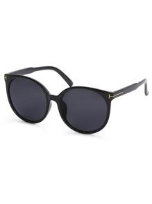 Black Cat Eye Reflective Lenses Sunglasses