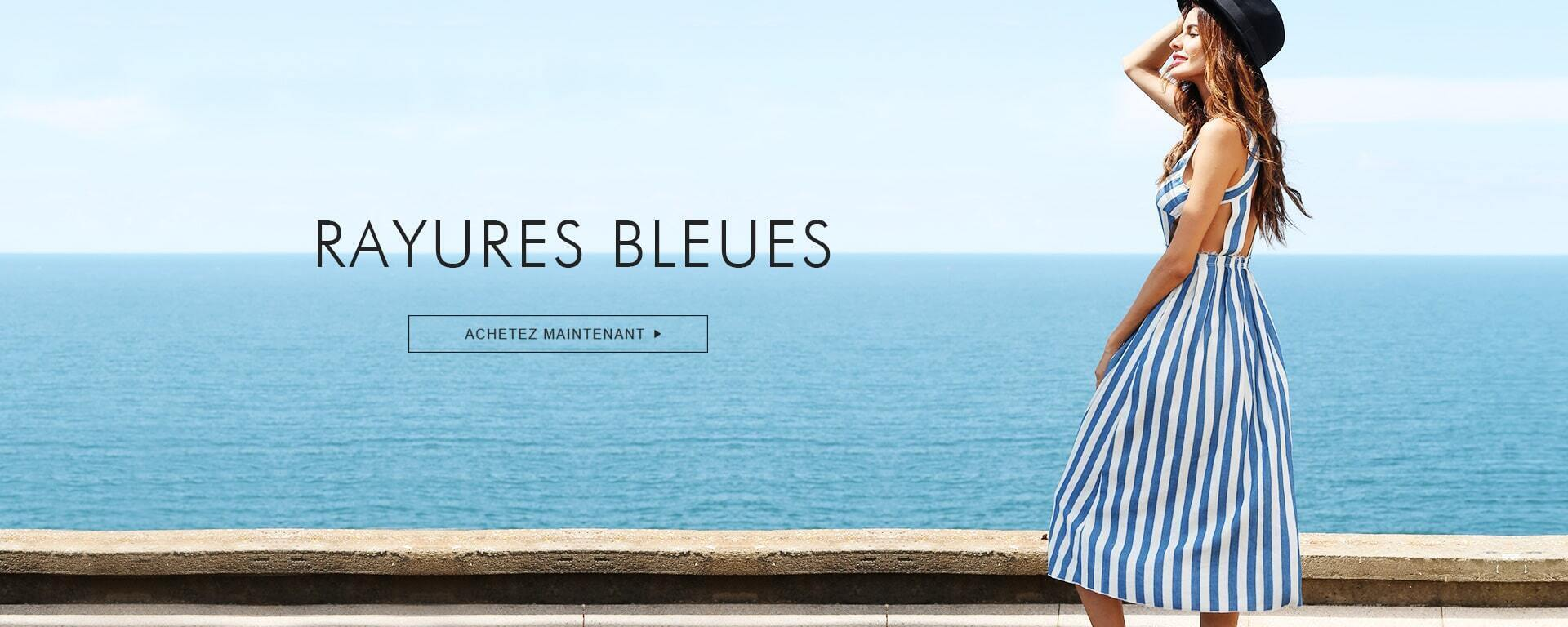 RAYURES BLEUES