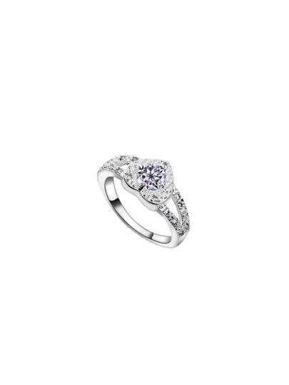 Heart Shaped Faux Diamond Ring