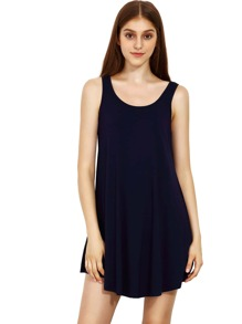 Blue Swing Tank Dress