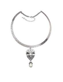 White Rhinestone Choker Necklace