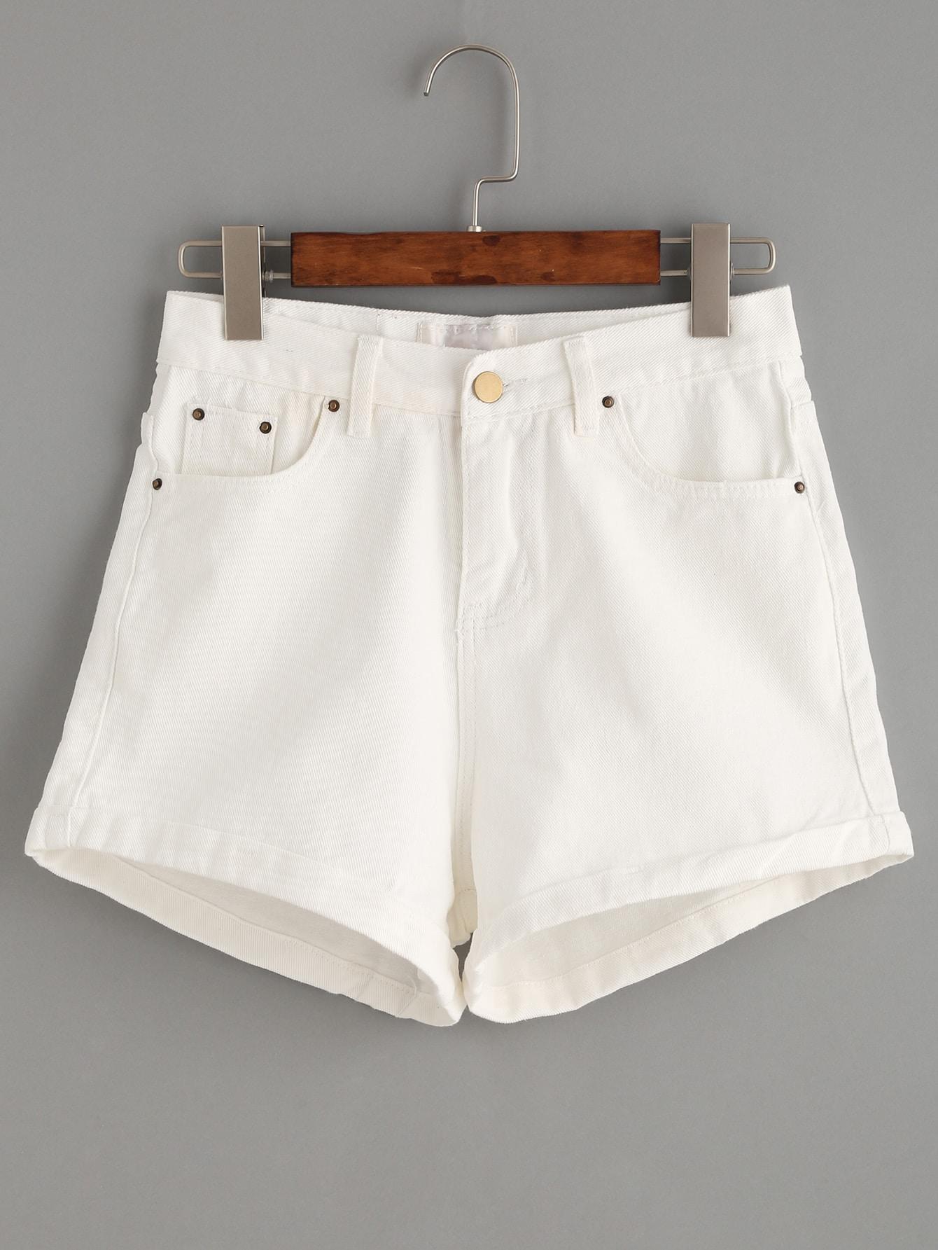 Белые джинсовые шорты SheIn
