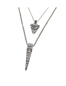 Double Layers Triangle Pendant Necklace