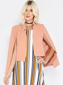 Cropped Cape Blazer BLUSH
