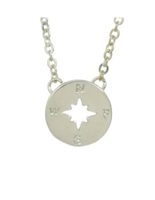 Silver Plated Round Pendant Necklace